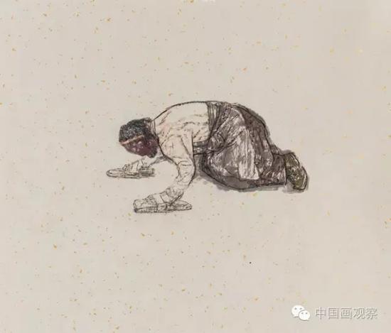 我院首席研究员袁武水墨人物画作品展中国美术馆开幕